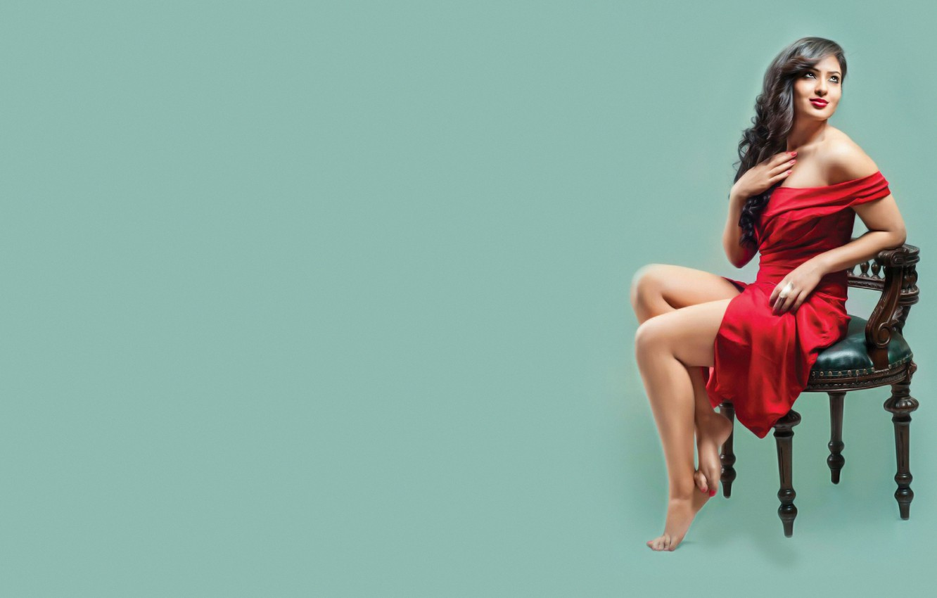 Wallpaper Legs Models Indian Actress Chair Bollywood Pose 1332x850