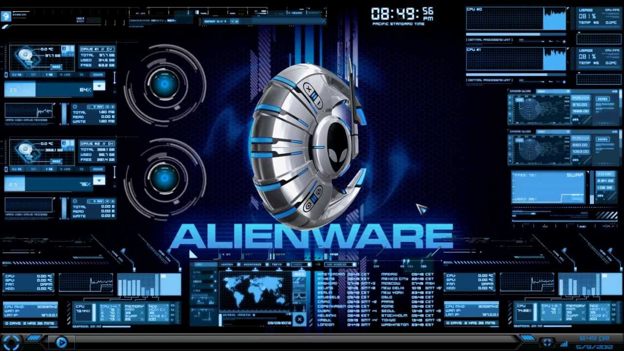 Alienware live wallpapers wallpapersafari rainmeter alienware media skin wallpaper 2012 youtube 1280x720 voltagebd Gallery