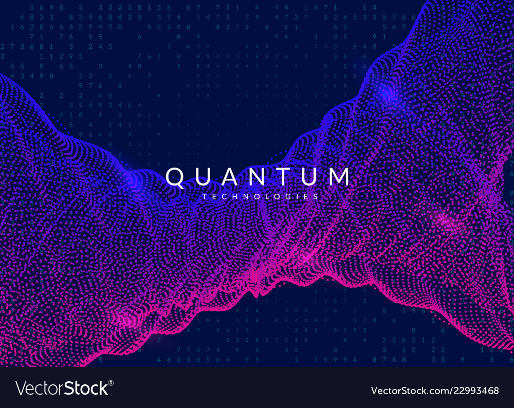 Quantum computing background technology for big Vector Image 1000x794