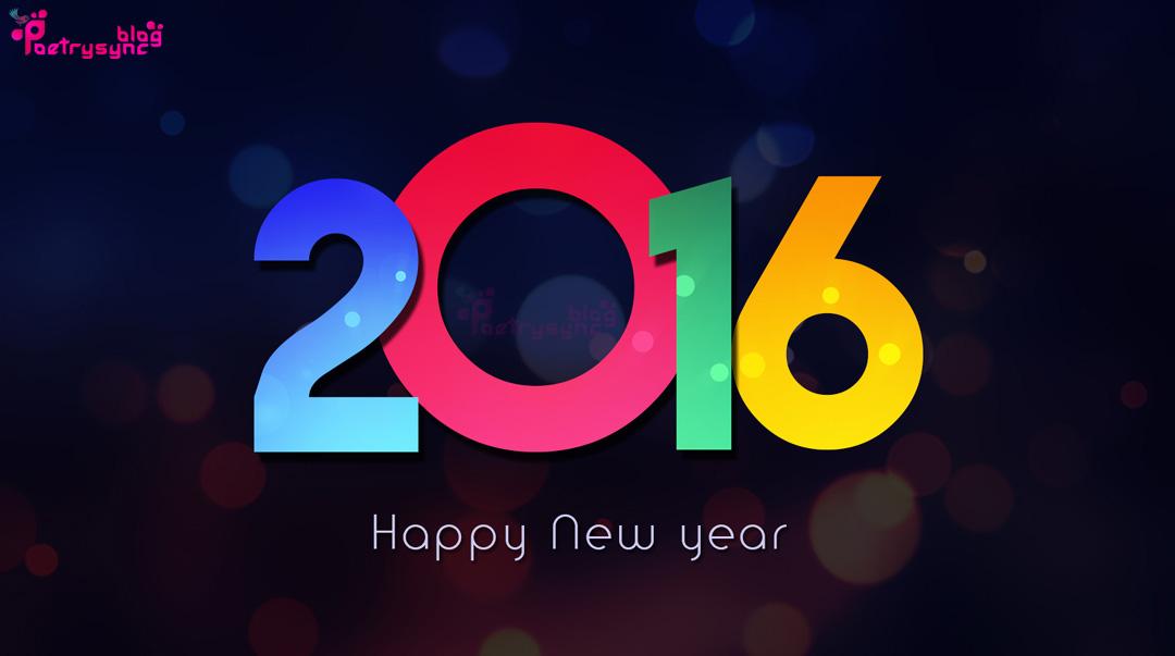 Happy New Year 2016 Desktop Wallpaper 1080x603