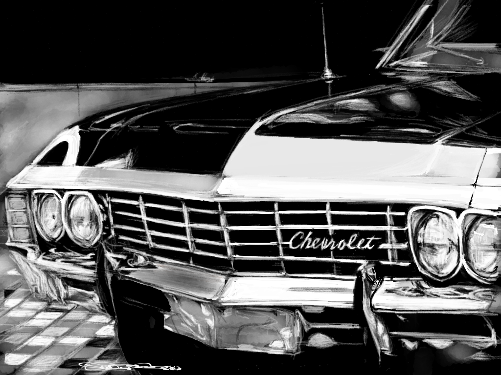 Supernatural Chevy by acostamt pelis 1024x768