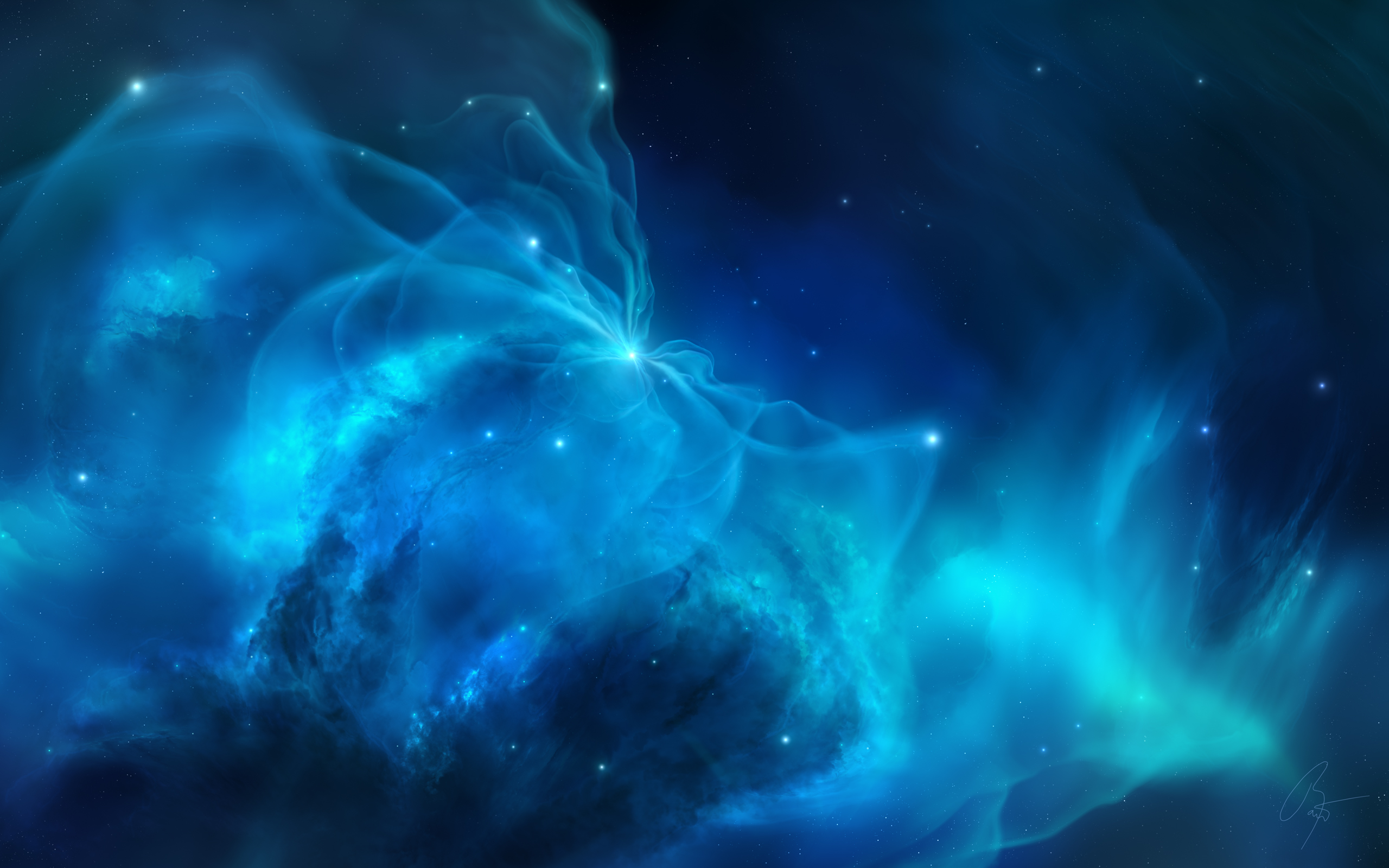 Blue Nebula Wallpaper - WallpaperSafari Blue Nebula Wallpaper Widescreen