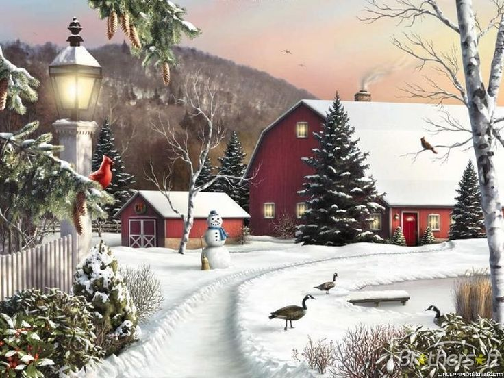 winter farm scenes wallpaper Download Winter On The Farm Active 736x552
