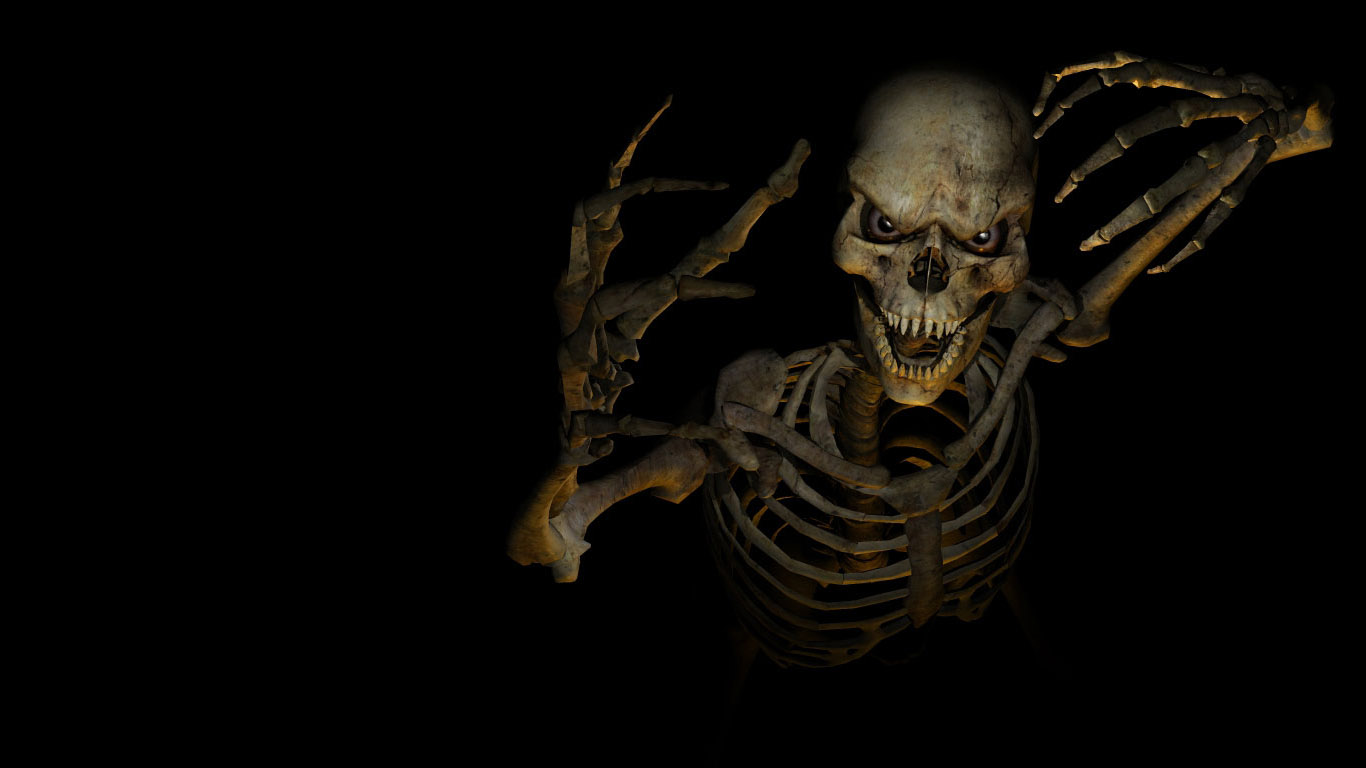 scary 3d skeleton best 3d wallpapers share this 3d wallpaper on 1366x768