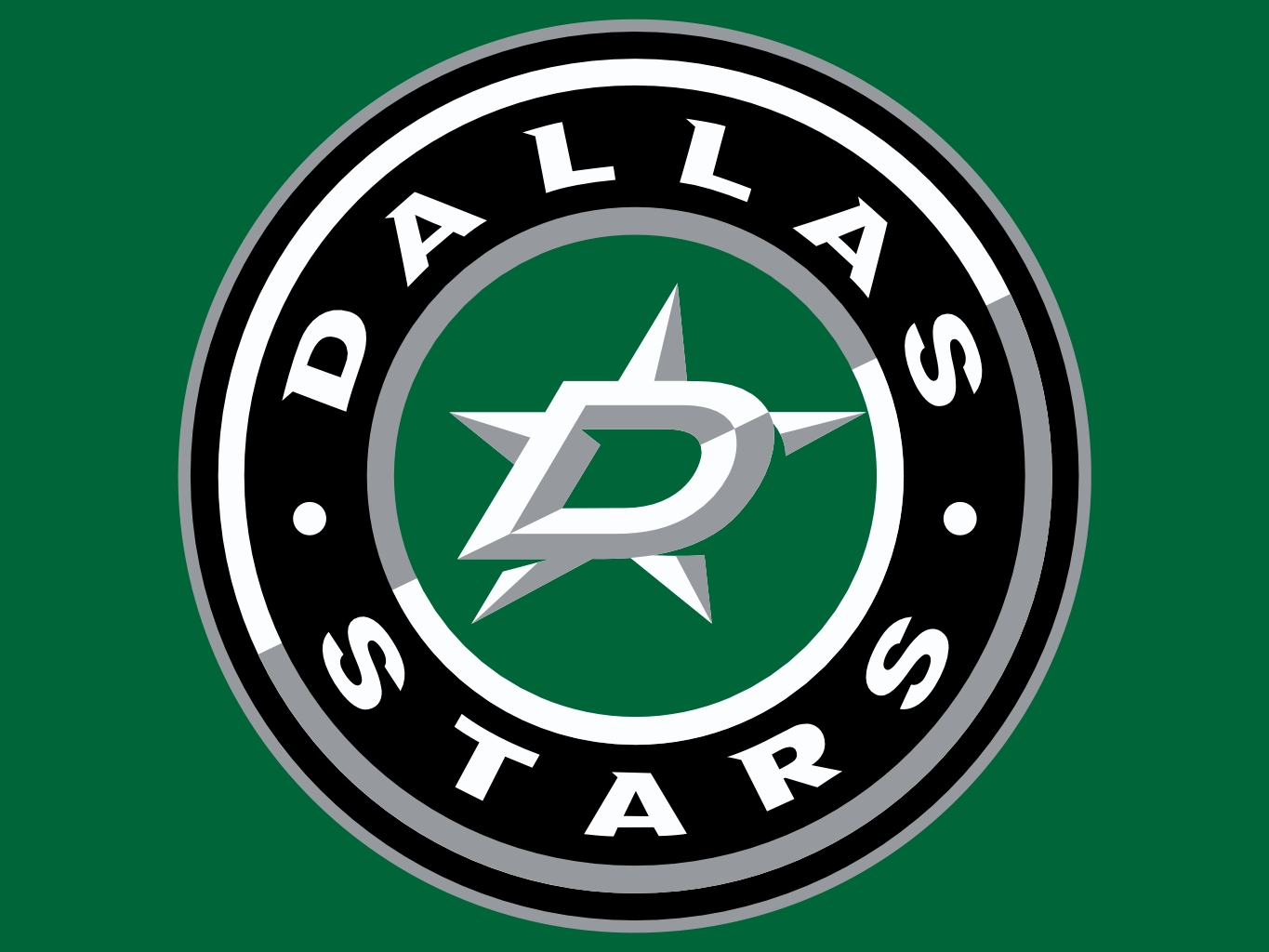 Dallas Star Logo Nhl Neon 1365x1024