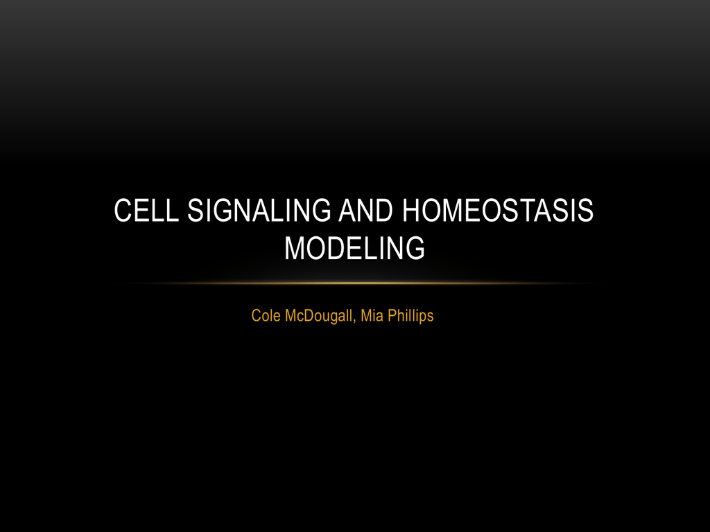 Cell Signaling and Homeostasis Modeling 1024x768
