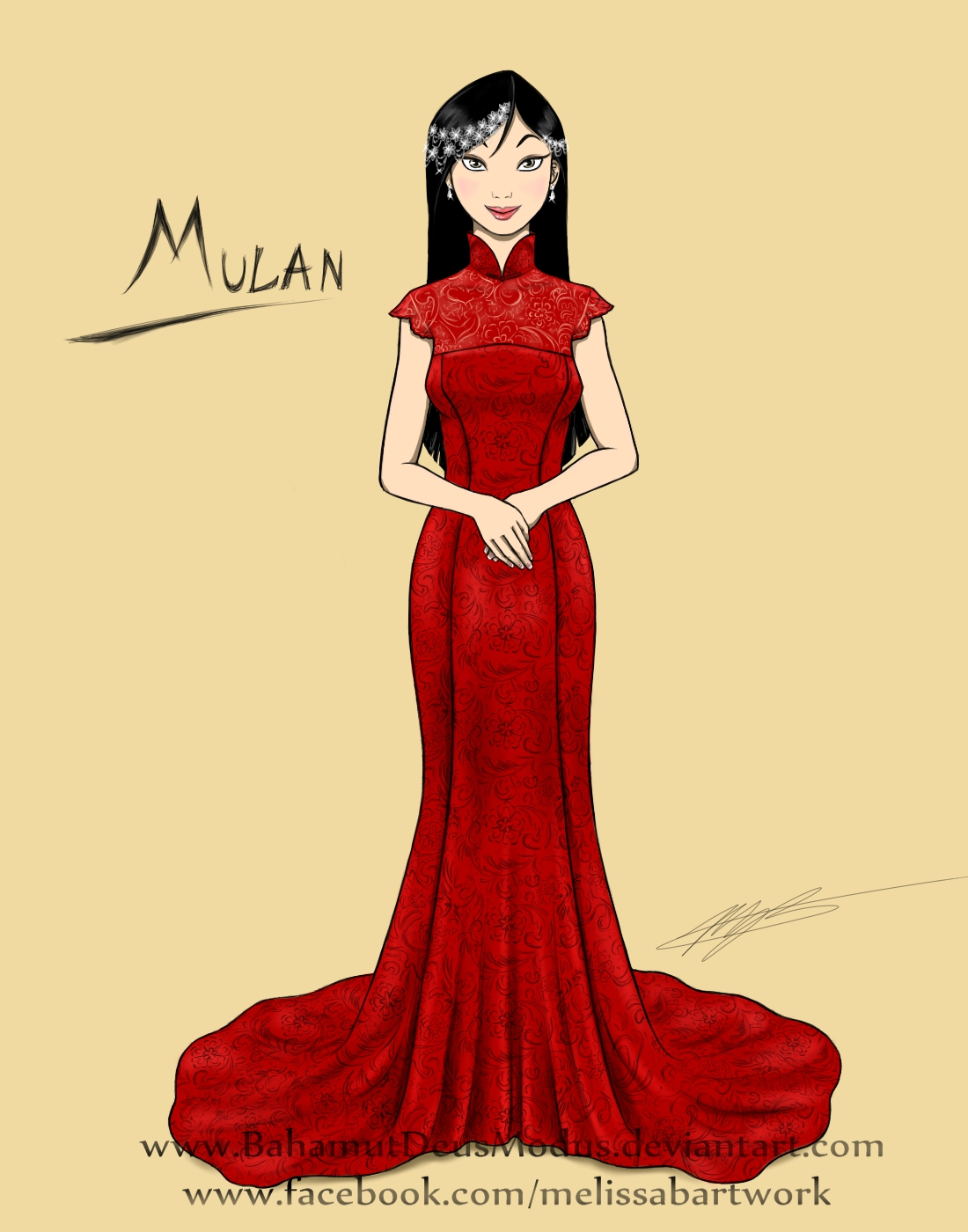 Mulan Wedding Dress HD Wallpaper Background Images 1100x1400