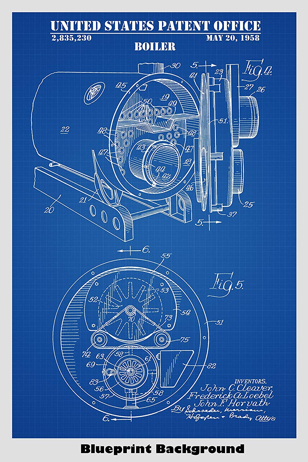 Amazoncom Boiler Patent Print Art Poster Choose From Multiple 1000x1500