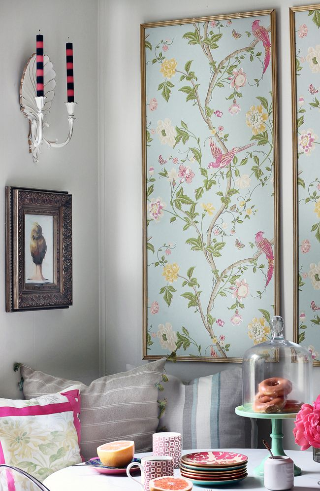 11 Unexpected Ways to Decorate With Wallpaper Wall art Framed 650x996