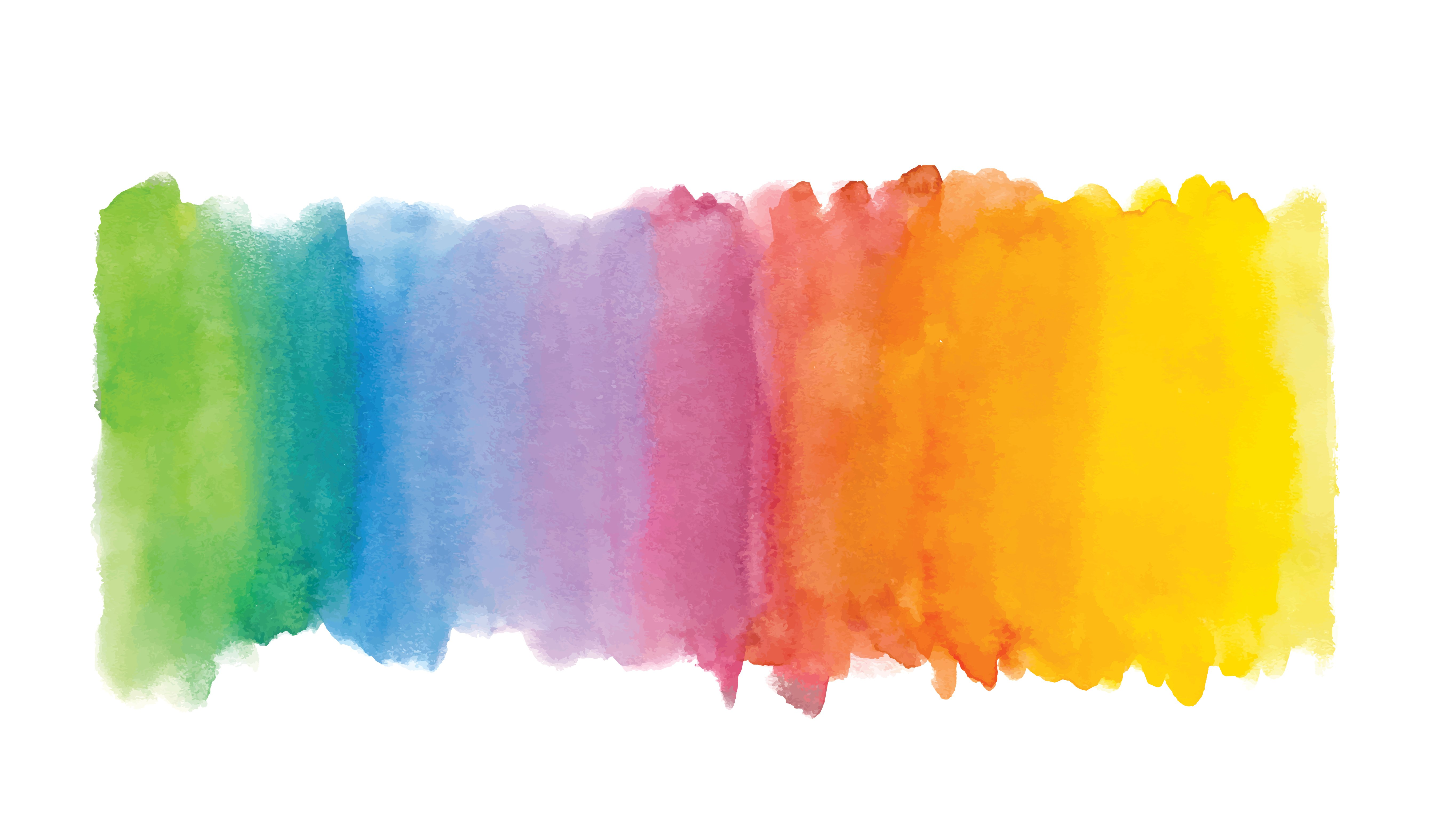 Rainbow abstract watercolor background Hand drawn watercolor 5361x3150