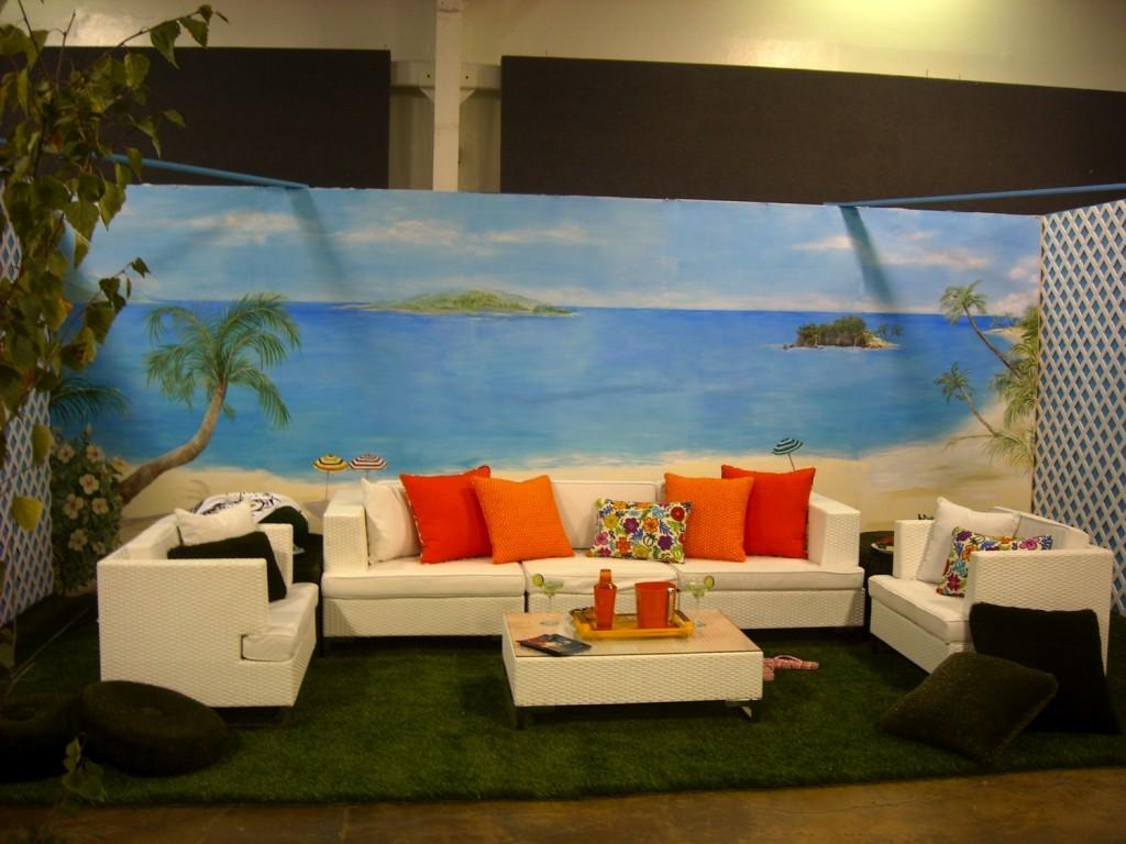 beach mural wallpaper 1024x768