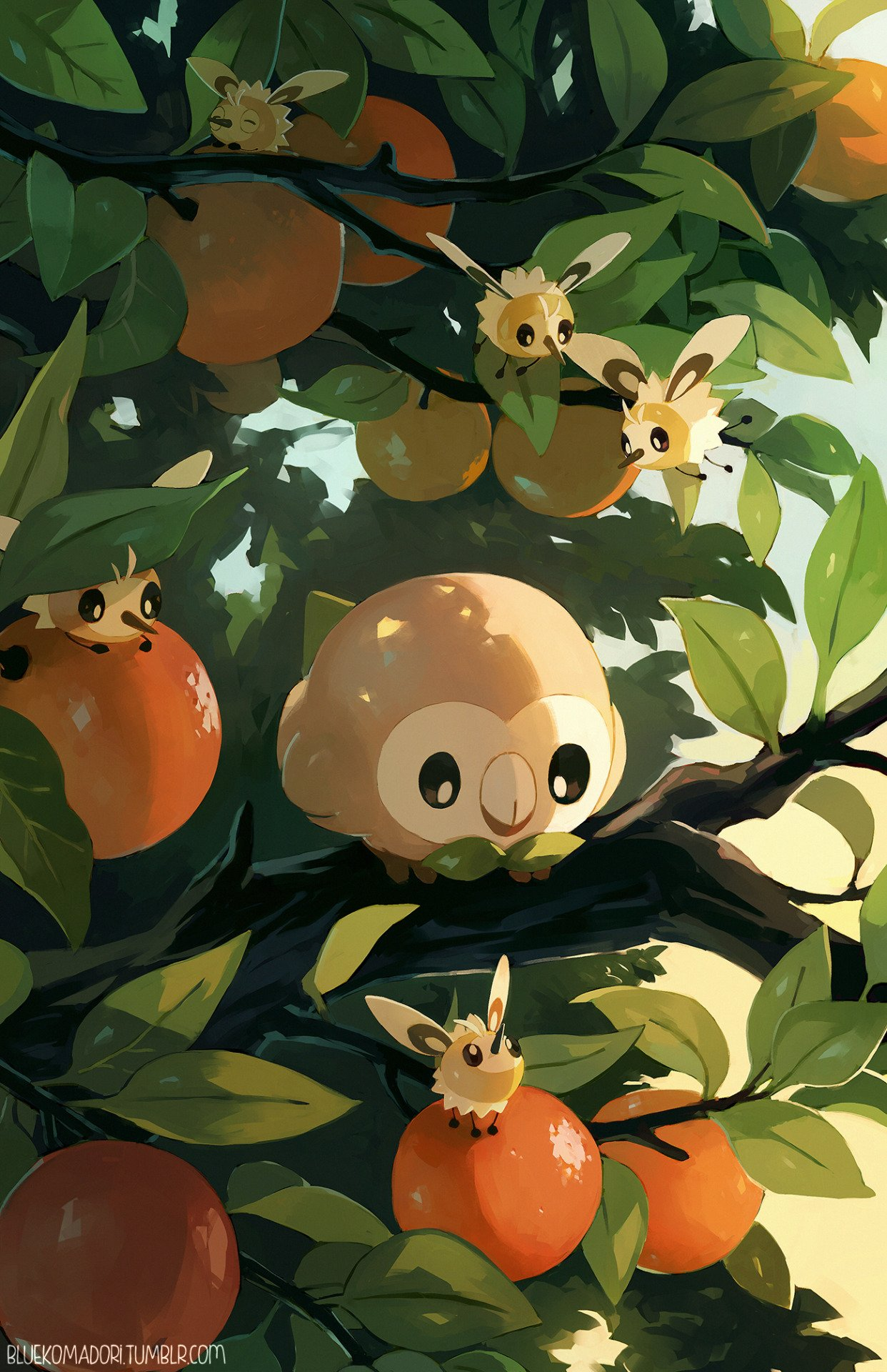 Rowlet Cutiefly by bluekomadori Rowlets Roundness Know Your 1242x1920