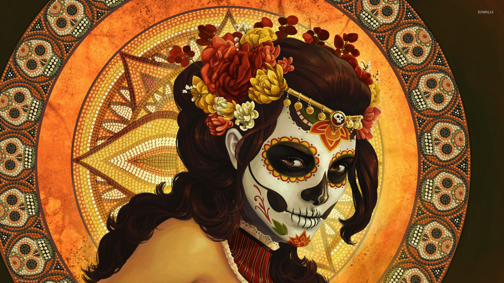 45 Day Of The Dead Wallpaper On Wallpapersafari