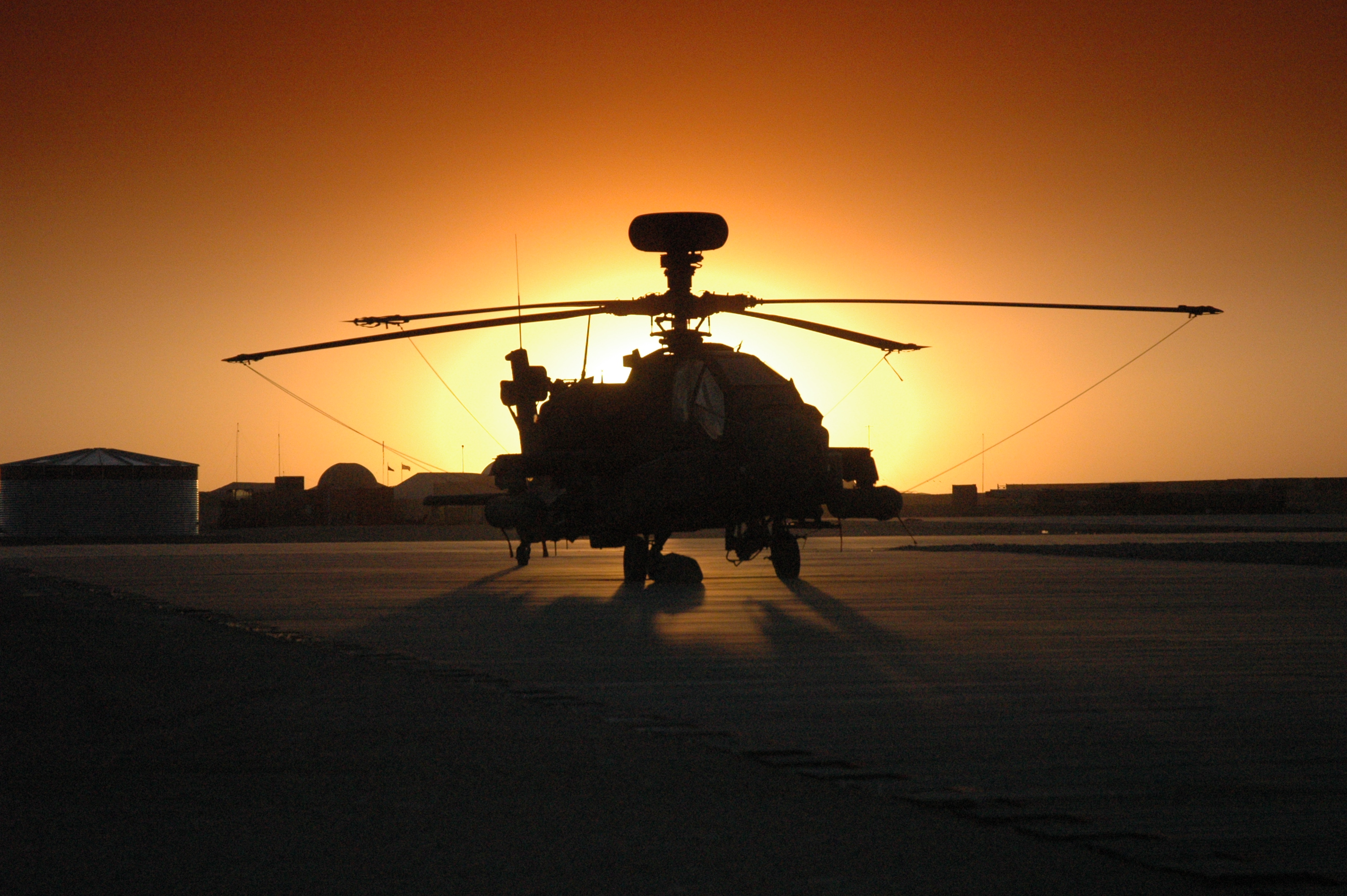 sunset aircraft helicopters vehicles ah 64 apache HD Wallpaper of 3008x2000