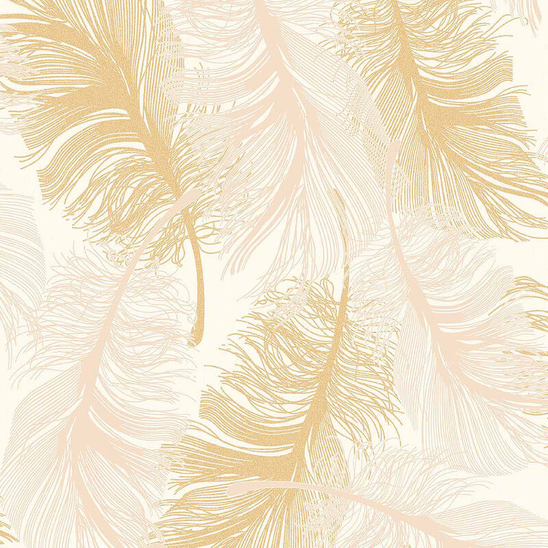 Coloroll Feathers Glitter Wallpaper in Gold Effect   M0926 800x800