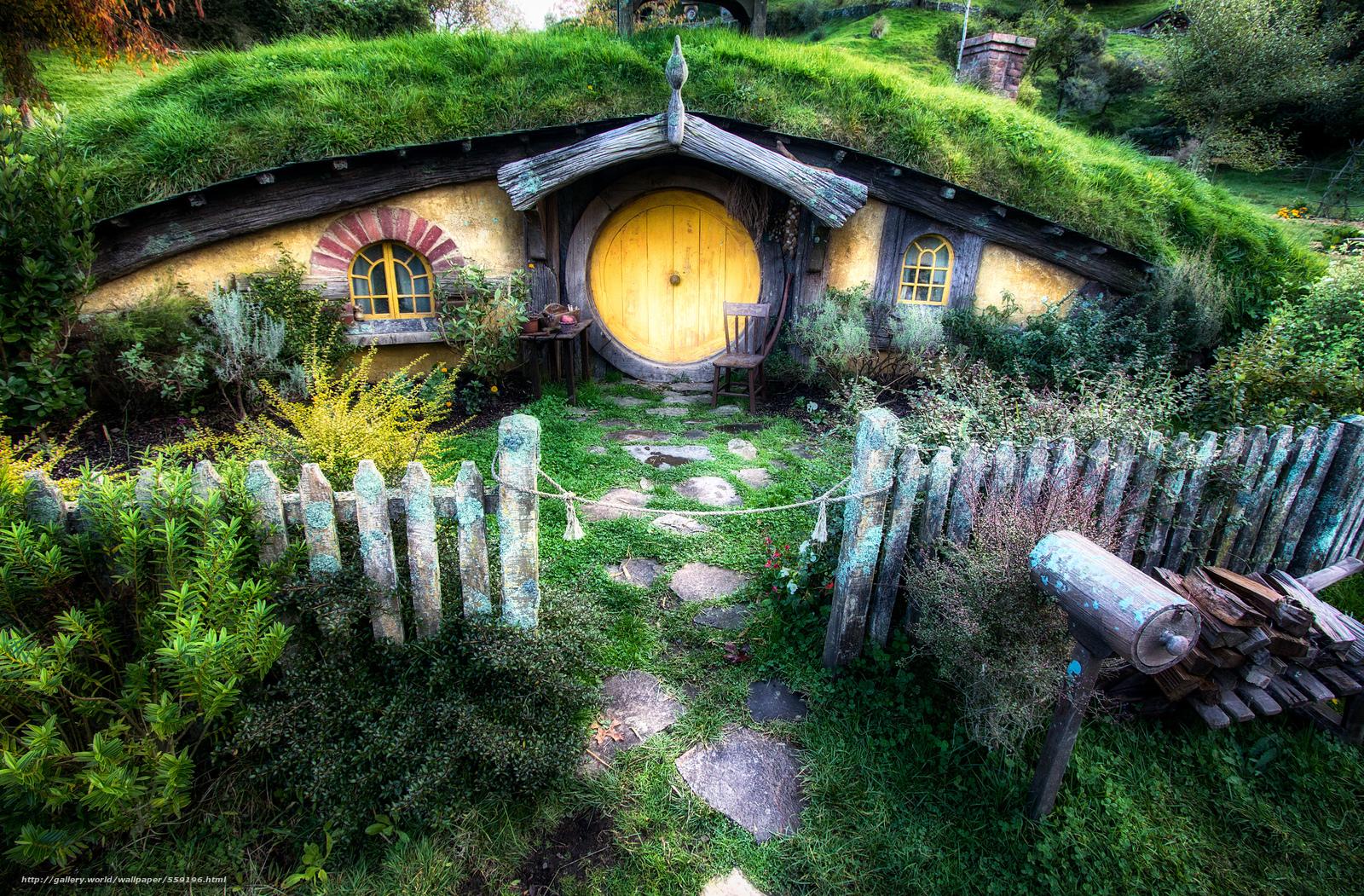Descargar gratis El Hobbit House El Seor de los Anillos paisaje 1600x1051