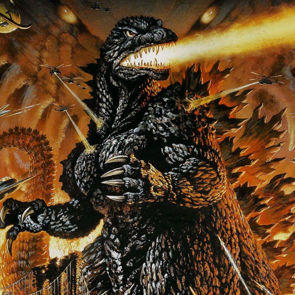 Godzilla ipad wallpaper 1024x1024