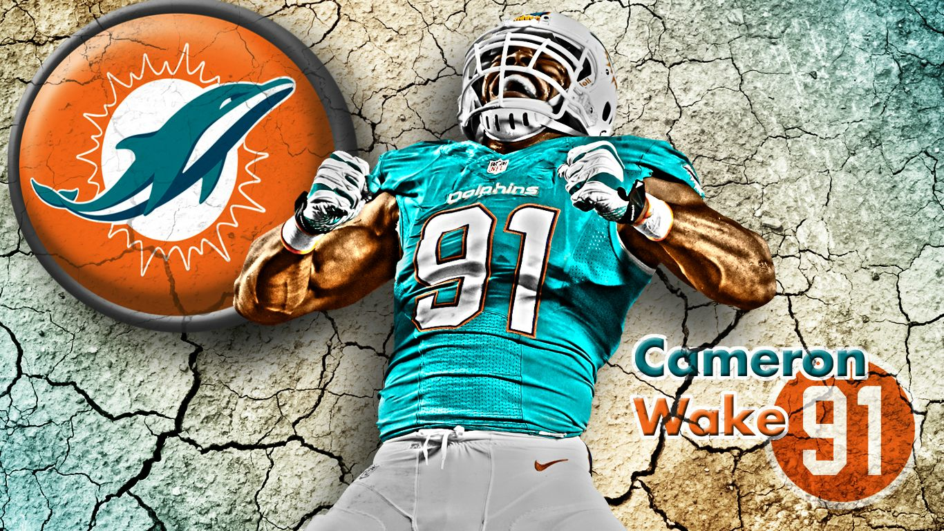 Miami Dolphins Cracked Earth Wallpapers 1366x768
