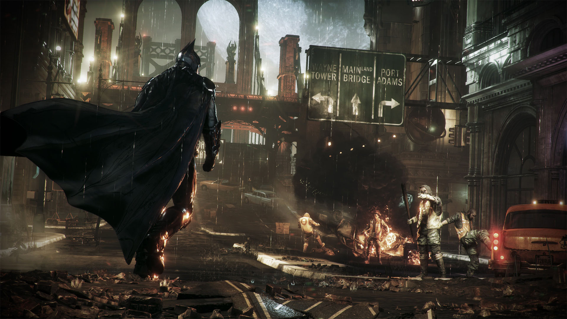 Download Batman Fight Scarecrow Arkham Knight HD Wallpaper Search 1920x1080