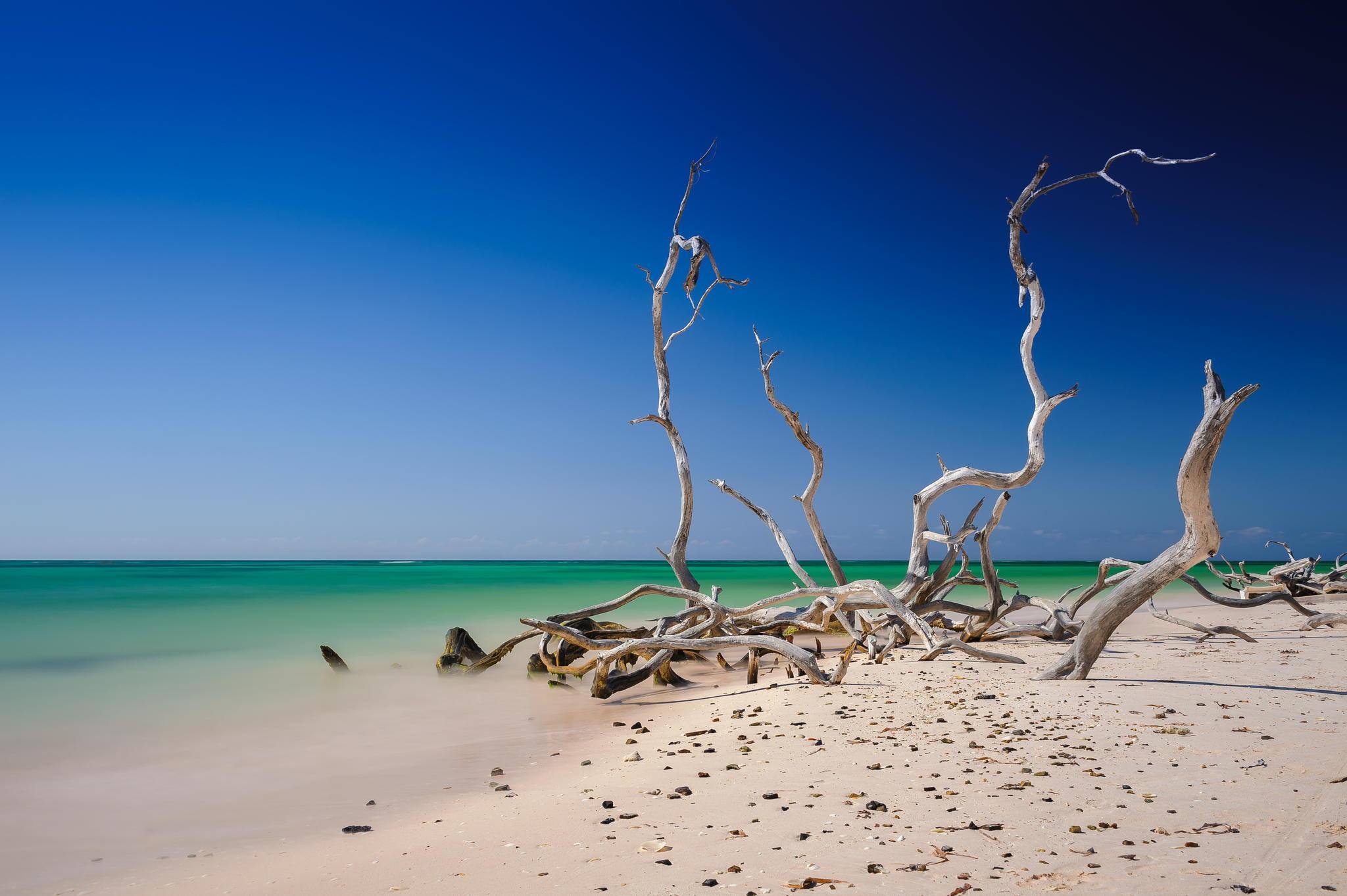 sky caribbean sand beach nature Cuba blue beauty scenery sea 2048x1363