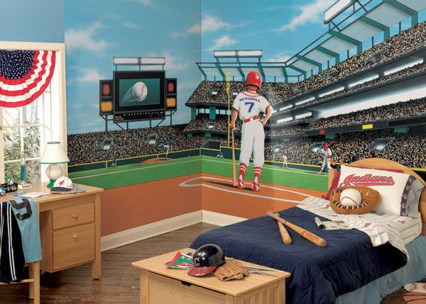 MLB Baseball Home DecorWall Murals and Wallpaper Borders Gallery 600x429