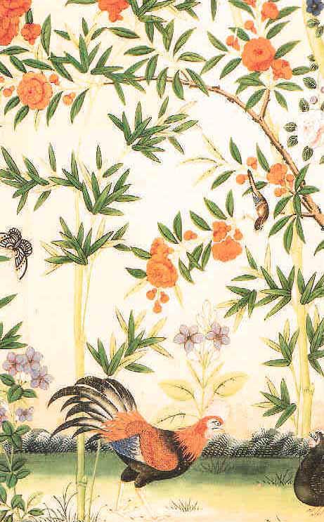 Oriental Print Wallpaper 461x743