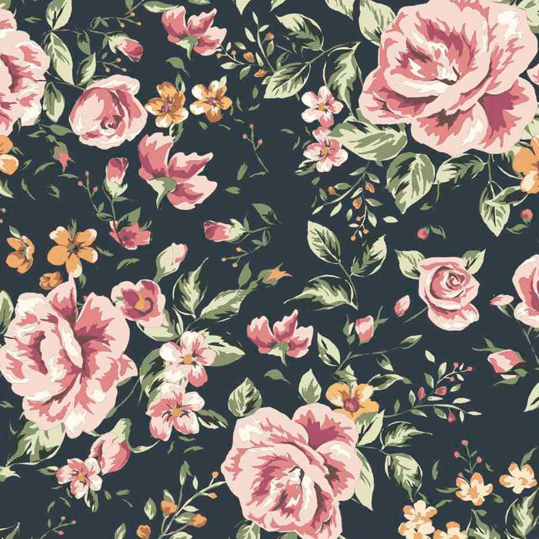 Free Download Marley Dark Floral Wallpaper Dark Flower Wallpaper
