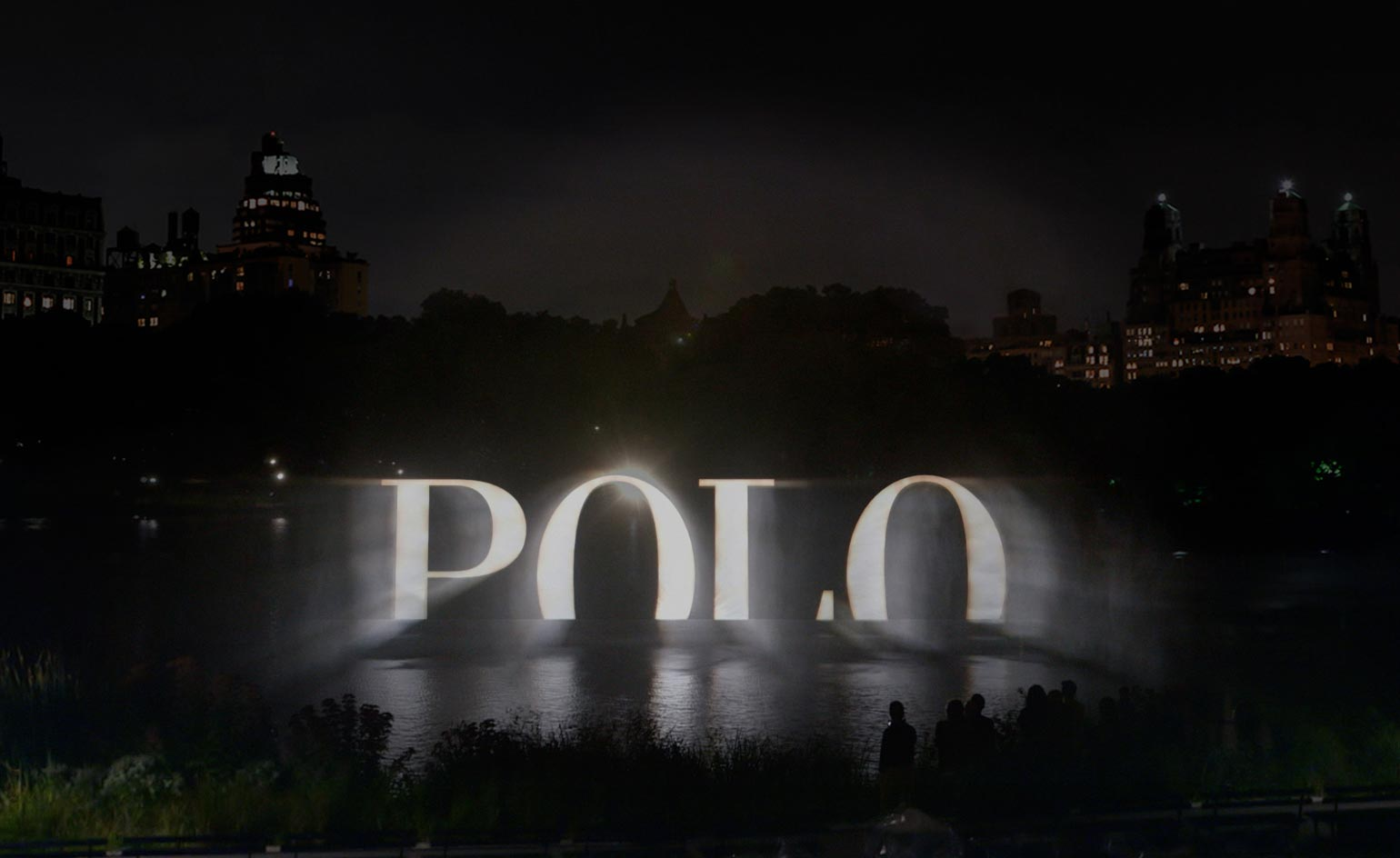 Ralph Lauren Polos 4D holographic wall of water lights up Central 1540x944