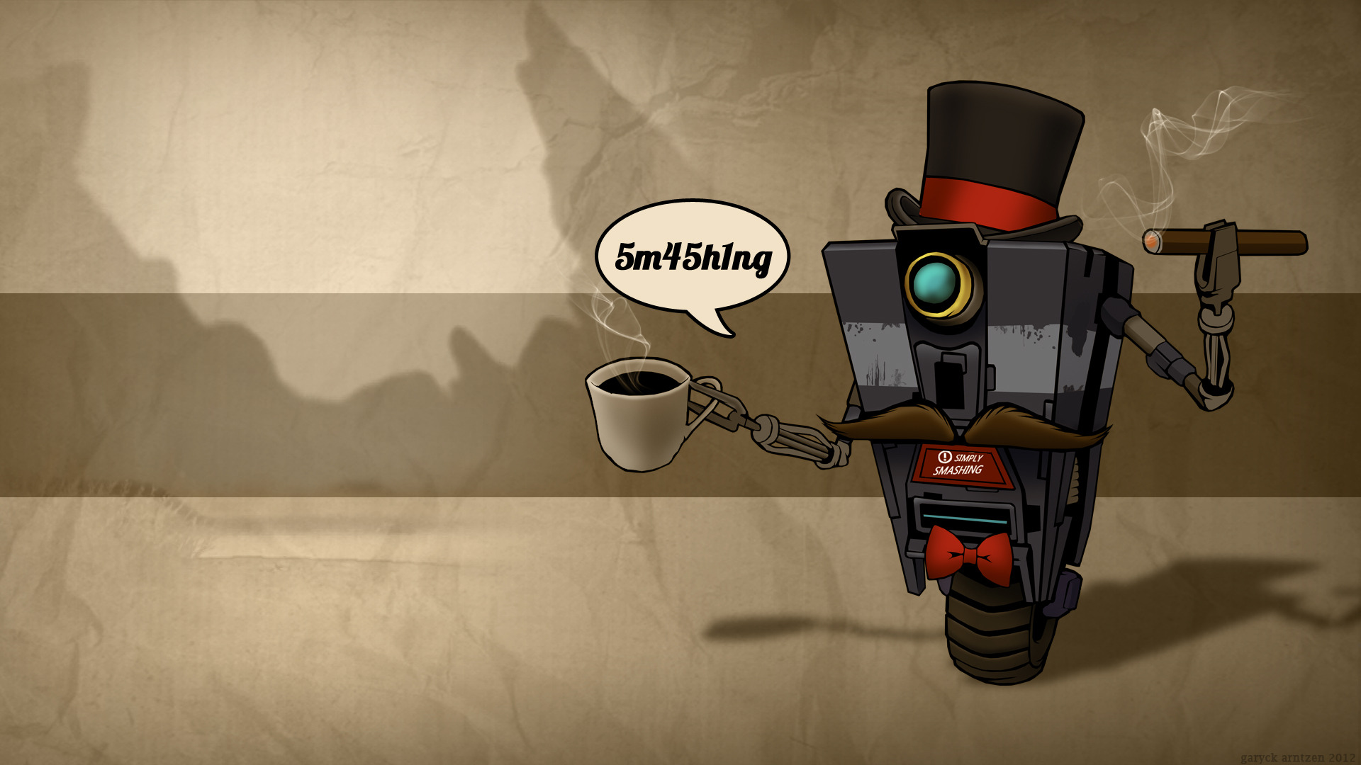 Sir Clap Trap   Wallpaper   1920x1080 Borderlands 1920x1080