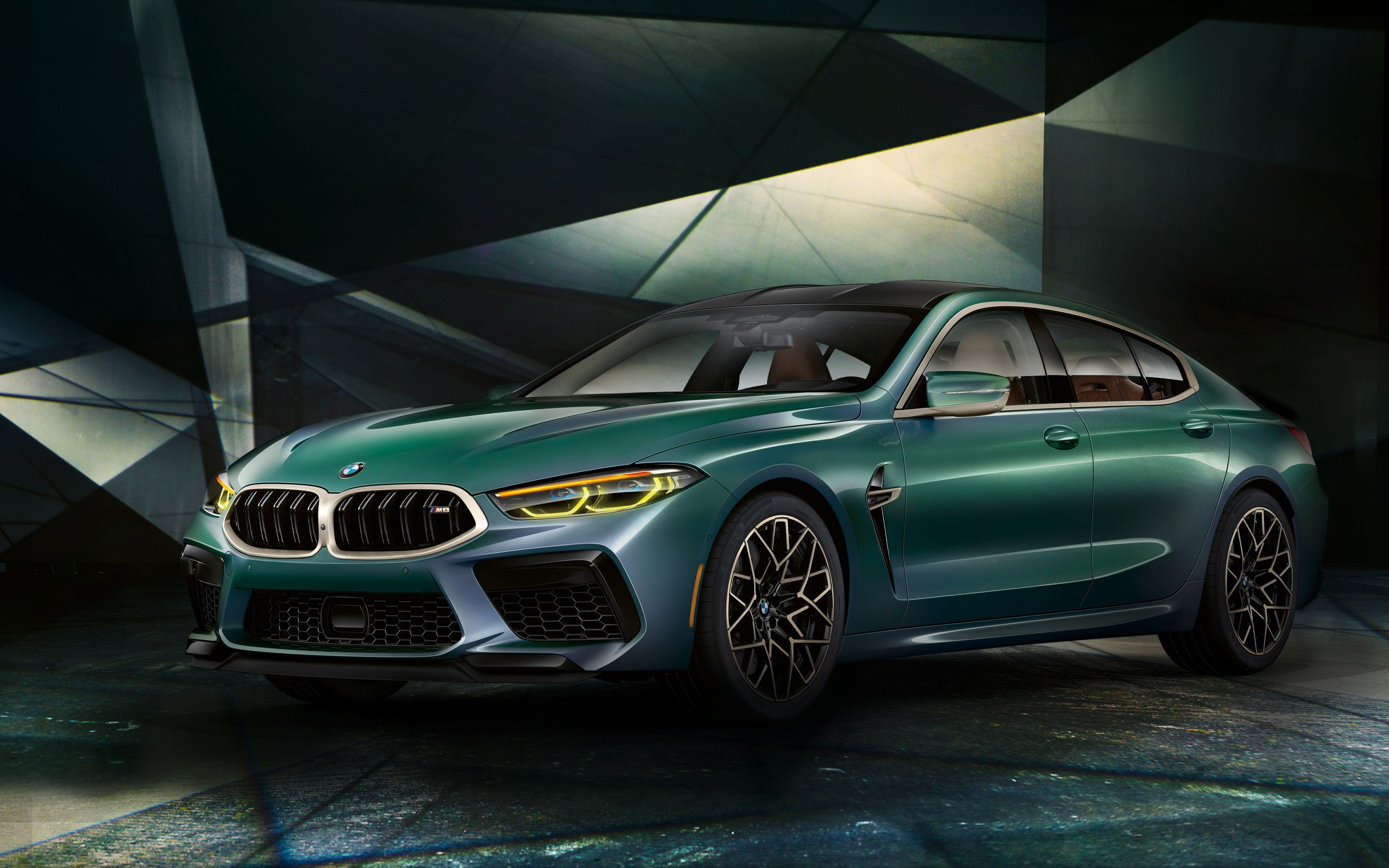 3840x2400 2020 BMW M8 Gran Coupe first edition green car 3840x2400
