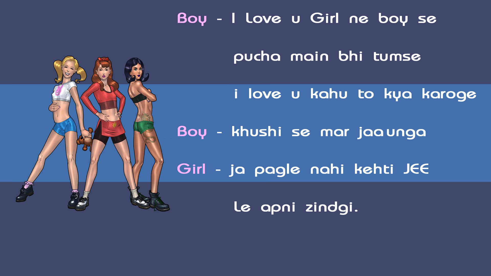 boy girl hindi funny jokes wallpaper Jokes Cards 1920x1080