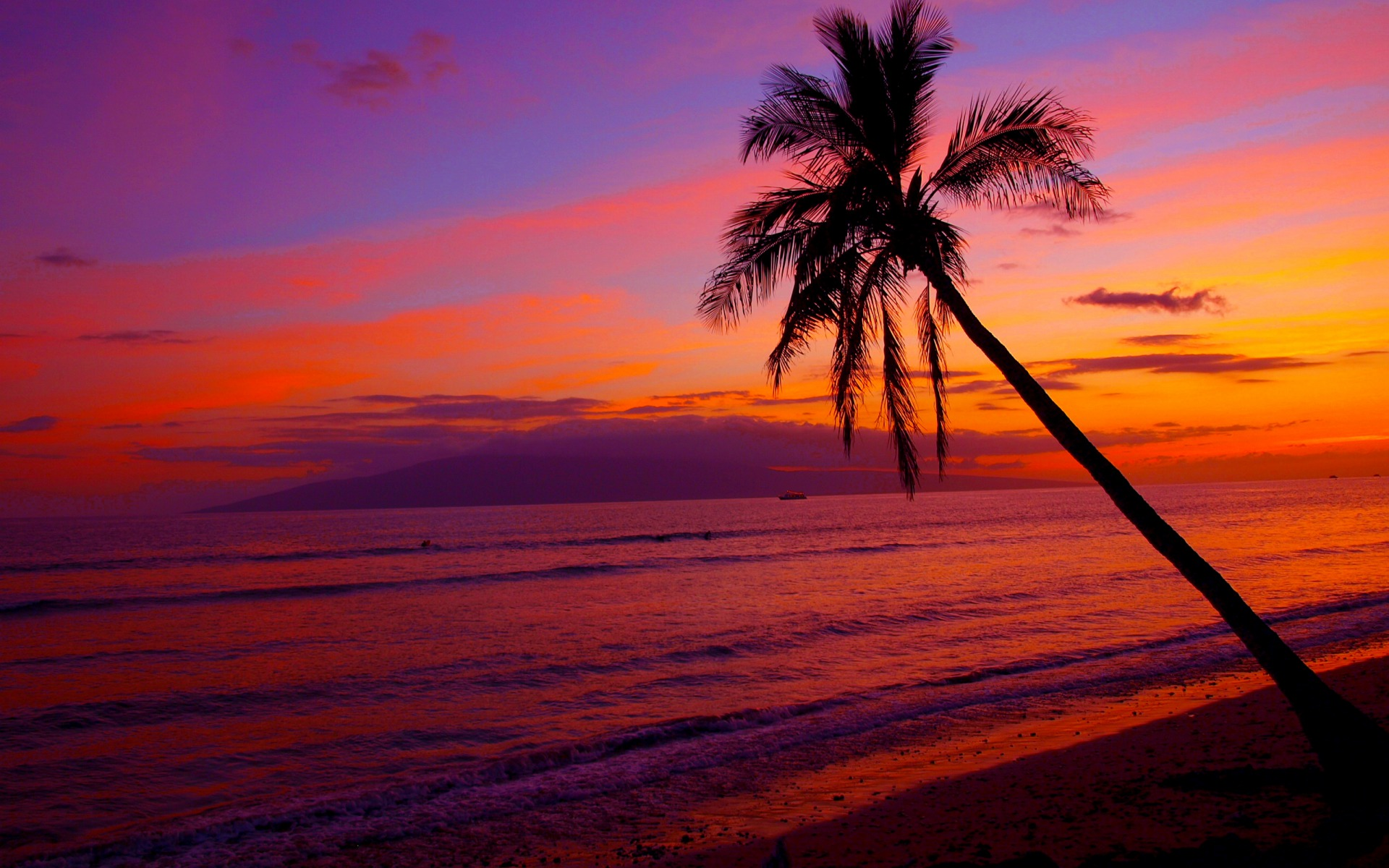 na Pulpit Hawaiian Sunset Zachody Soca Natura Wallpapers HD 1920x1200