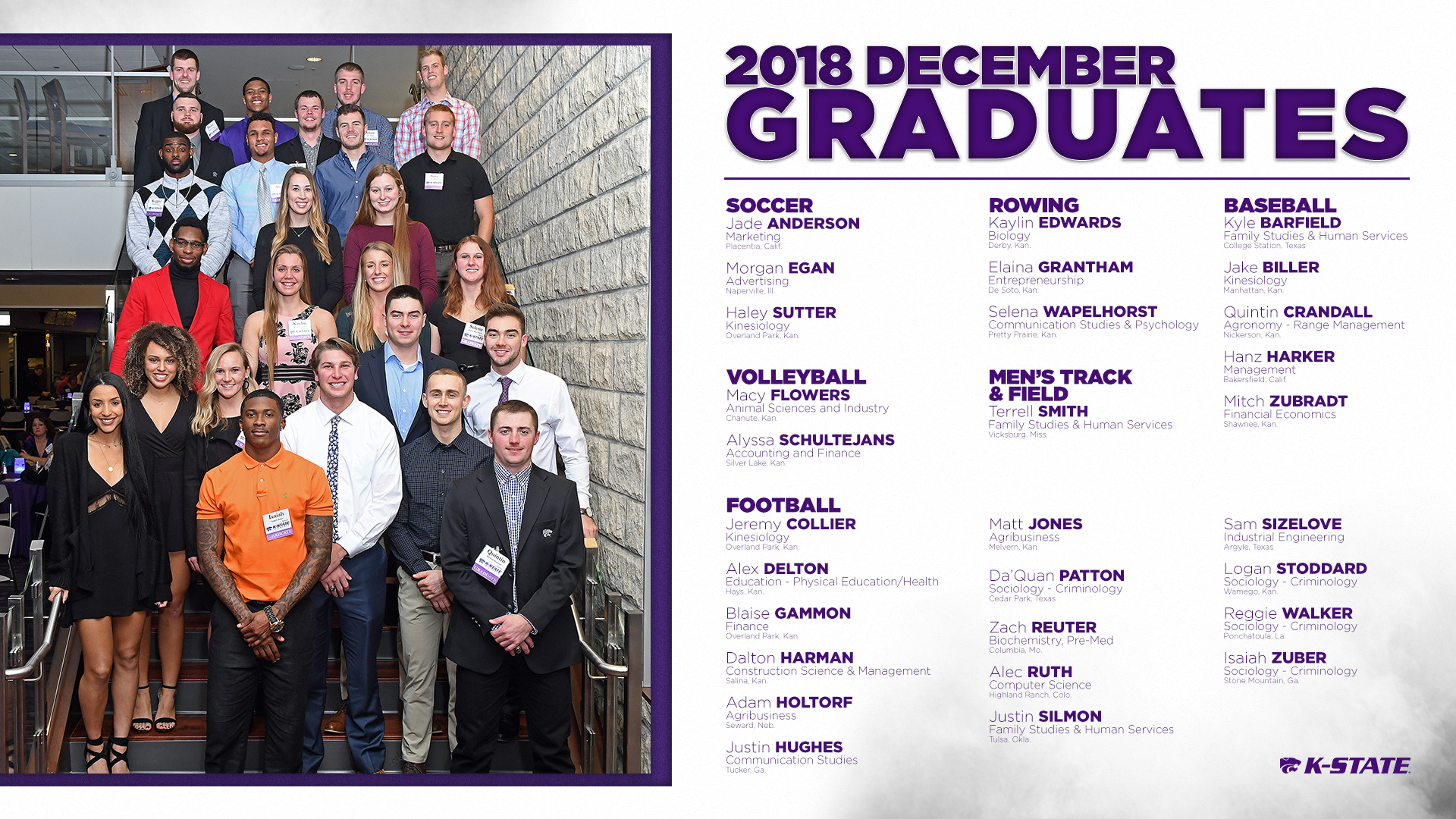 K State Student Athletes Receive Degrees in Fall Commencement 1920x1080