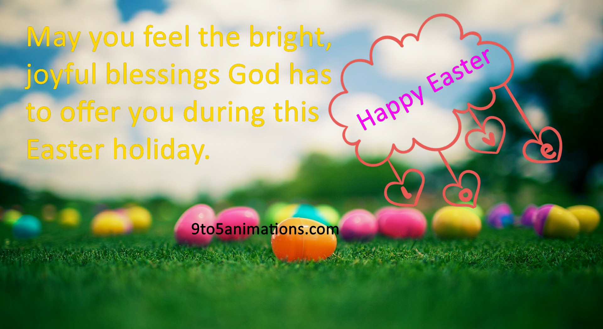2018 Happy Easter Wishes Images 9To5AnimationsCom 1920x1048