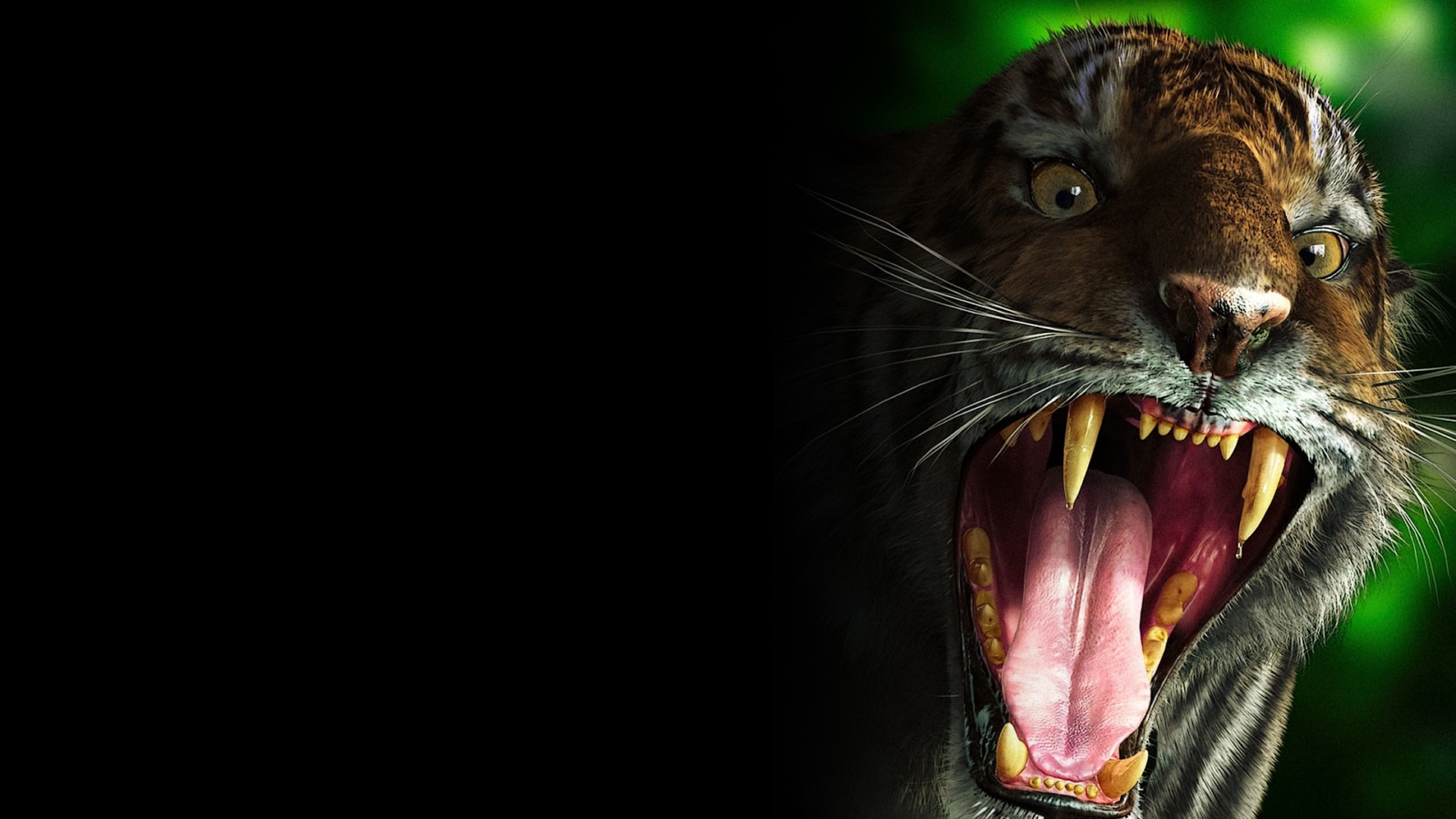 Hd wallpaper evil - Wallpaper 1920x1080 Tiger Teeth Scary Evil Full Hd 1080p Hd