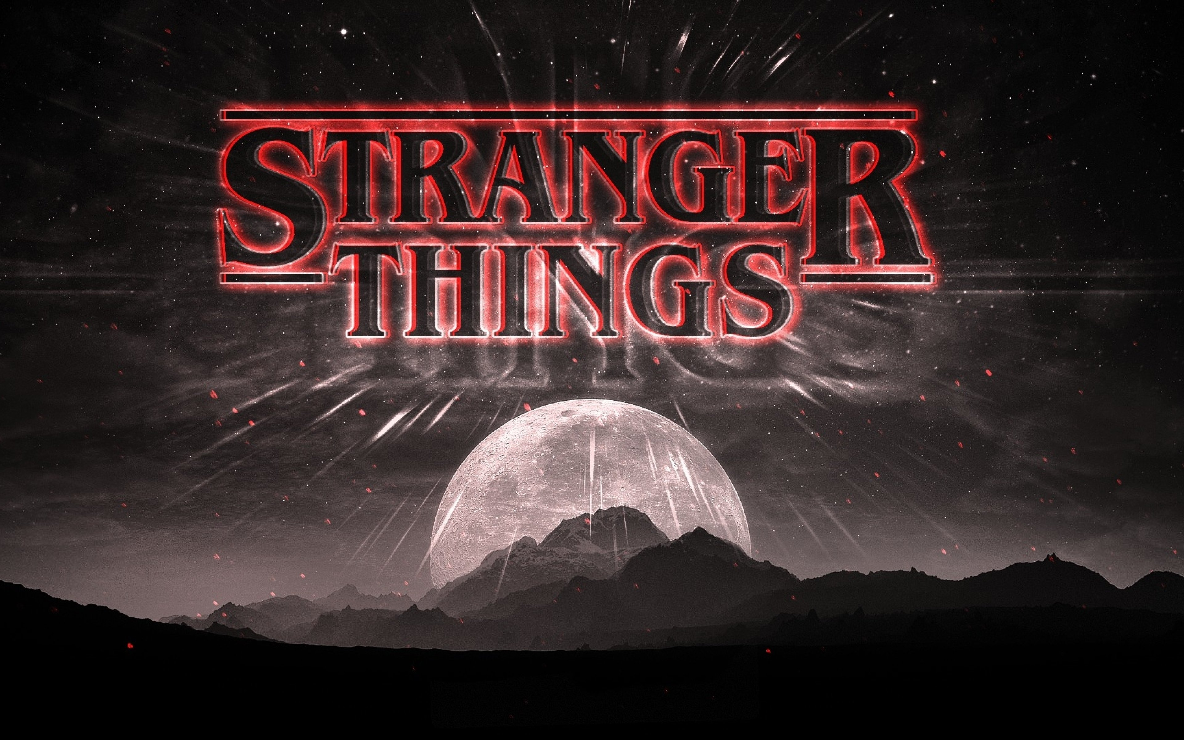 Stranger Things Dark Logo Full HD Wallpaper 3840x2400