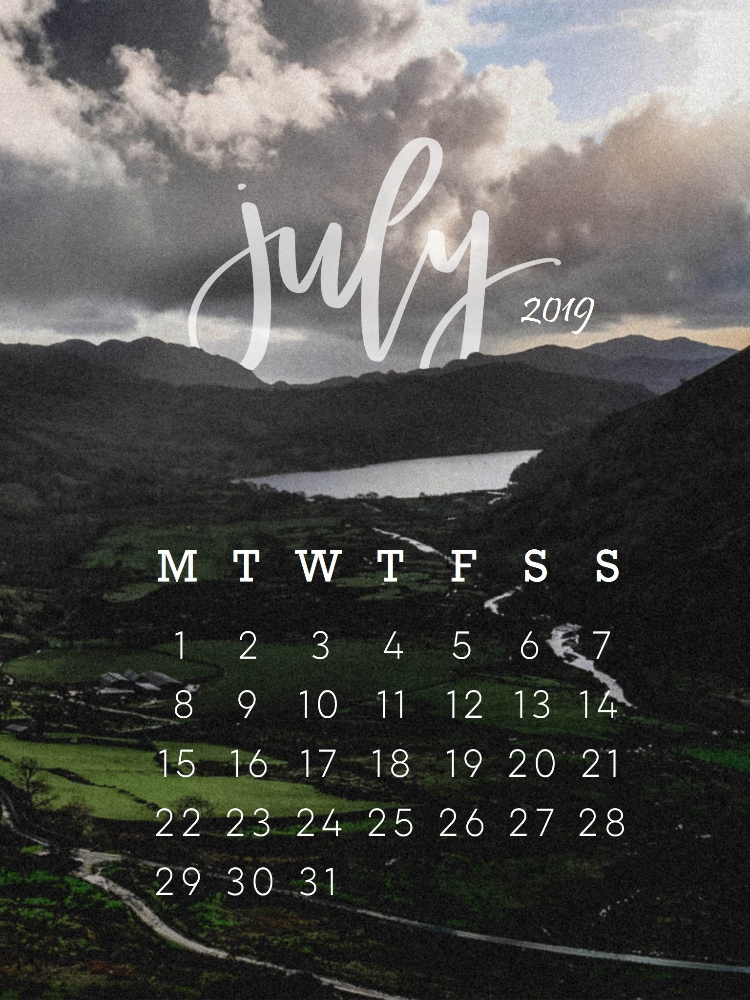 july 2019 iphone calendar wallpapers calendar 2019July 2019 1536x2048