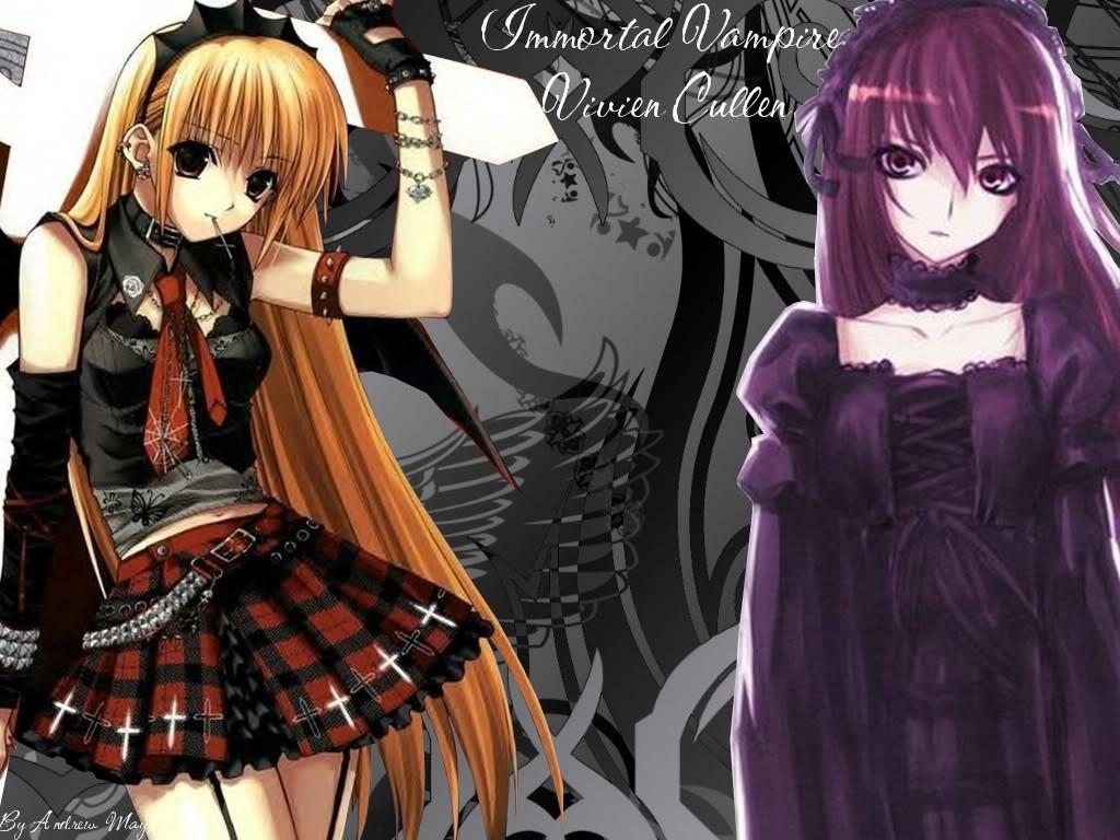 Anime vampire girl wallpaper wallpapersafari - Wallpaper vampire anime ...