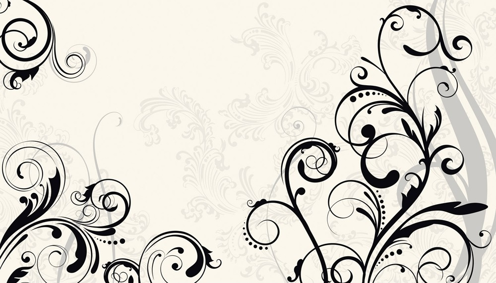 Free Download New Xl Black And White Scroll Wall Mural Prepasted