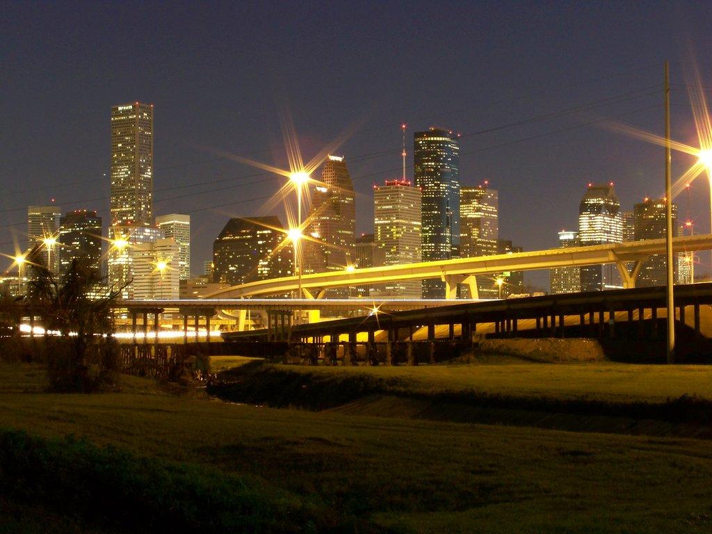 Houston Skyline at Night2 by sanjosechris 1024x768