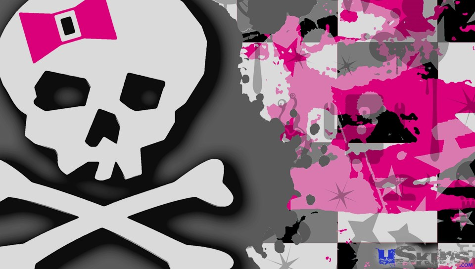 Girly Pink Bow Skull   Decal Style Skin fits Sony PS Vita 960x544