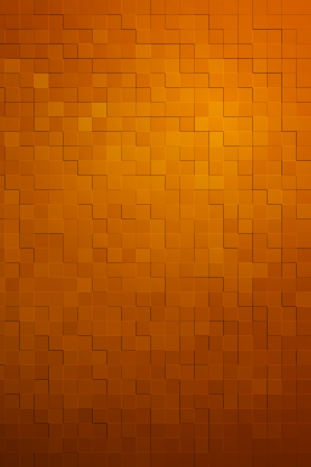 Orange Cubes Pattern wallpaper iPhone Wallpapers 640x960