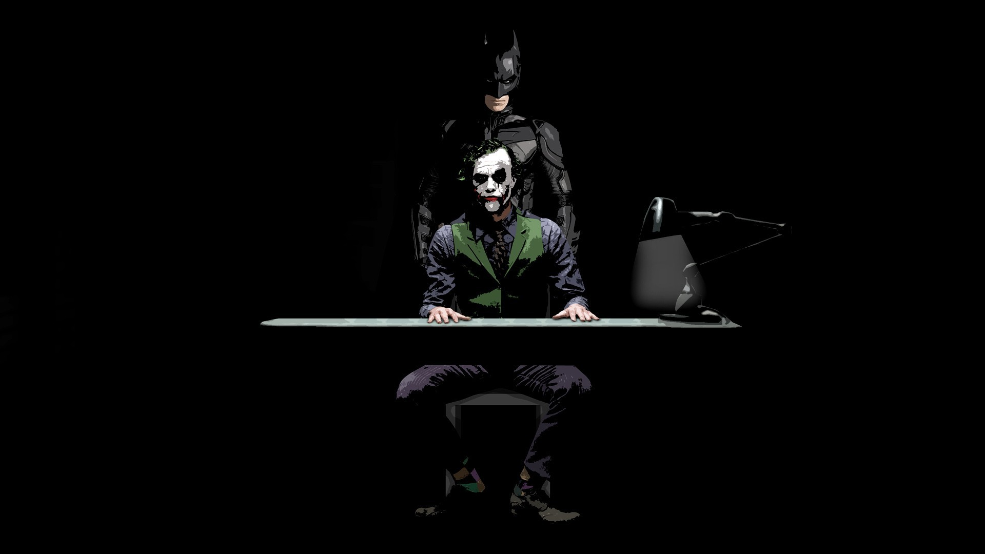 Batman and Joker   The Dark Knight wallpaper 5884 1920x1080