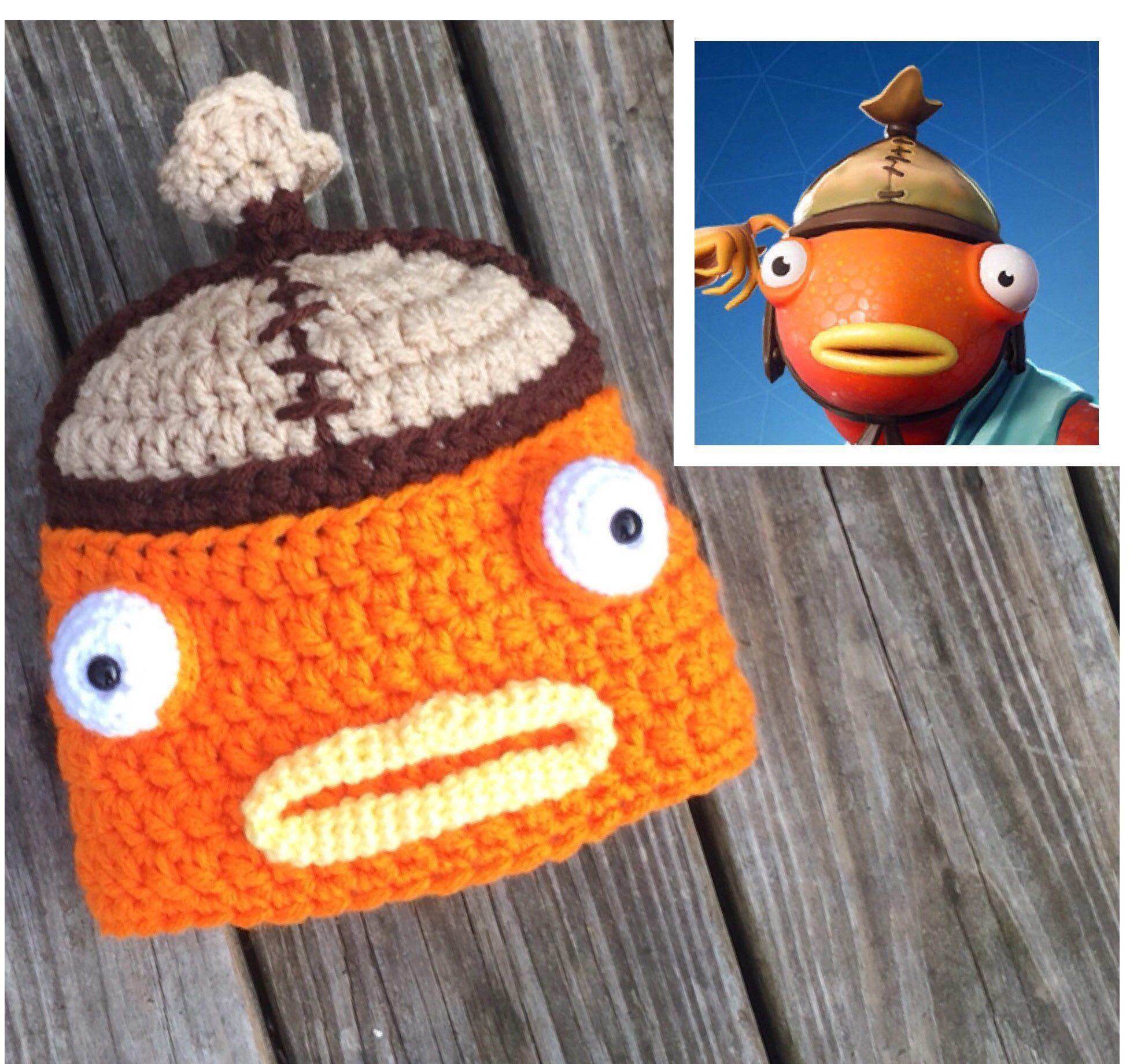 Fish Hat Gamer Skin Gamer Gift Fishstick Video Game Hat Orange 1973x1840