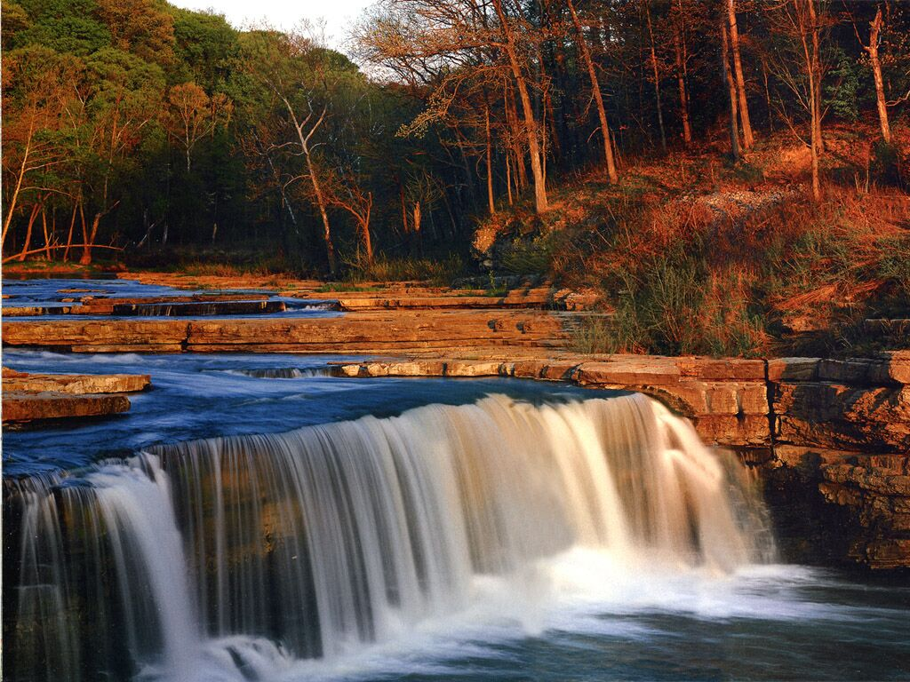 Indiana Cataract Falls State Park Mill Creek   Nature Wallpaper Image 1024x768