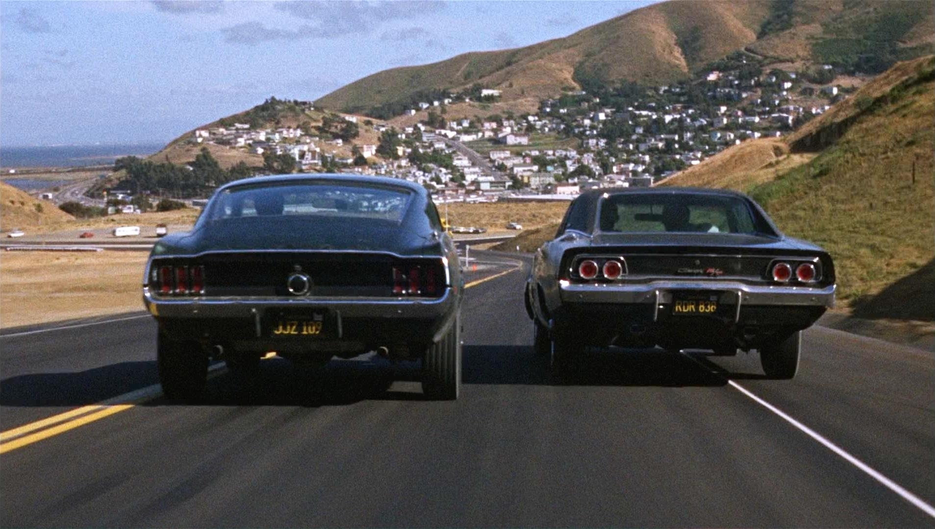 BULLITT action crime mystery movie film dodge charger ford mustang 1907x1080