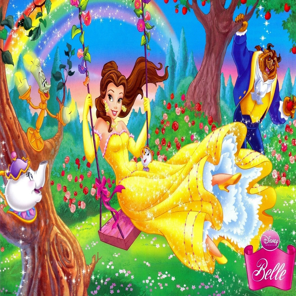 Free Download Beauty And The Beast Disney Cartoon Ipad Wallpaper