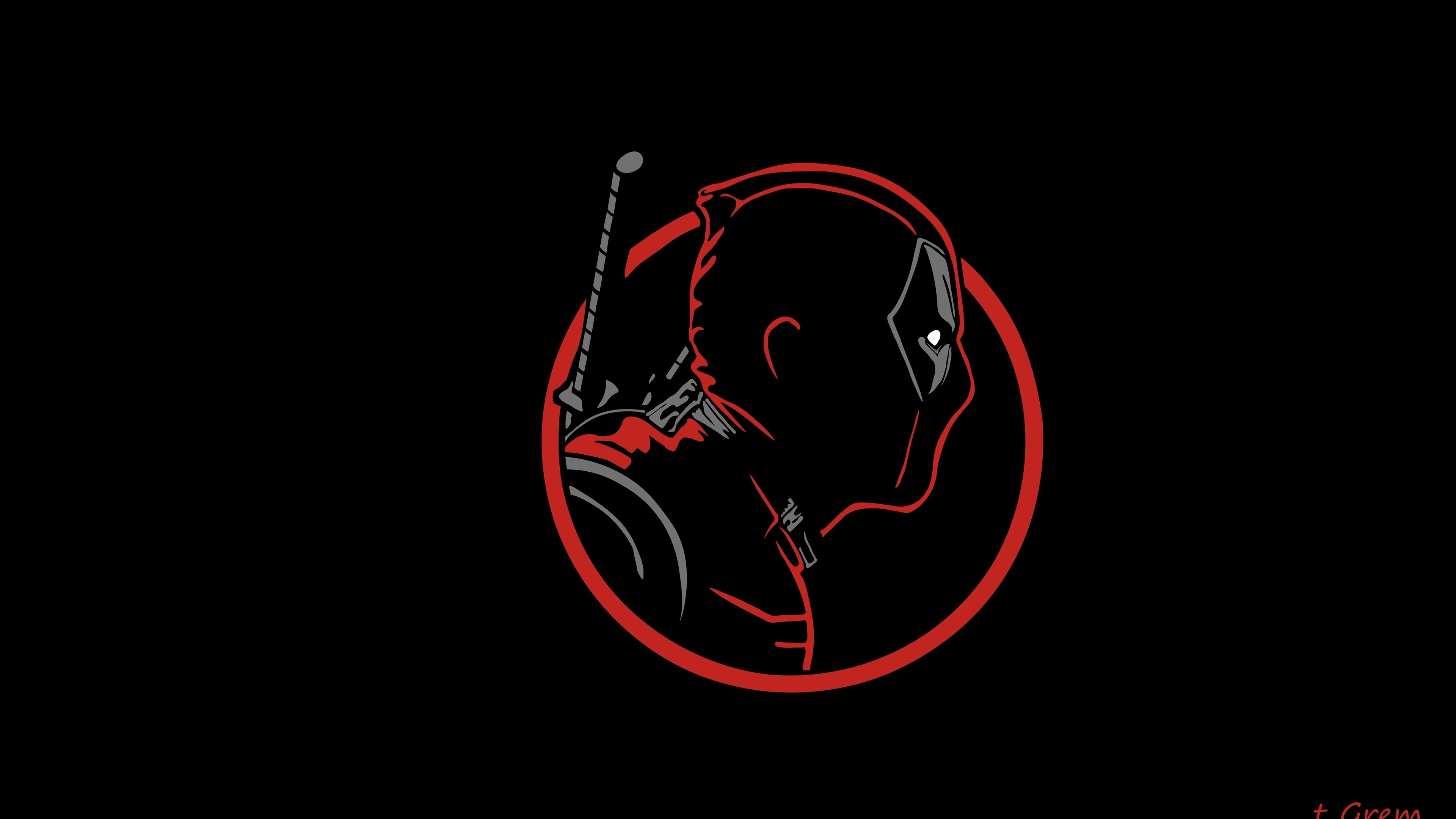 Wallpaper 4k Deadpool Minimal 4k 4k wallpapers artist wallpapers 3840x2160