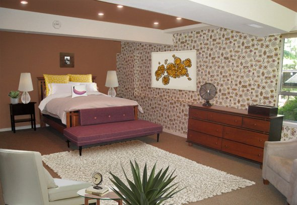 mid century modern bedroom mid century wallpaper new atomic wallpapersafari 16190