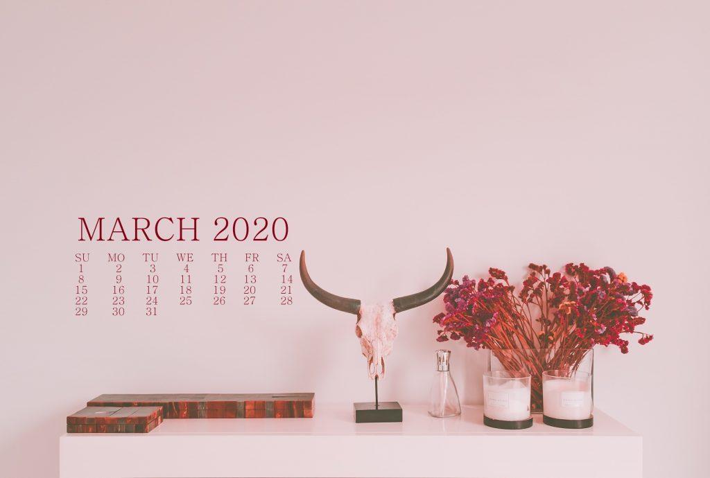 March 2020 Calendar Wallpaper For Desktop Laptop iPhone 1024x690